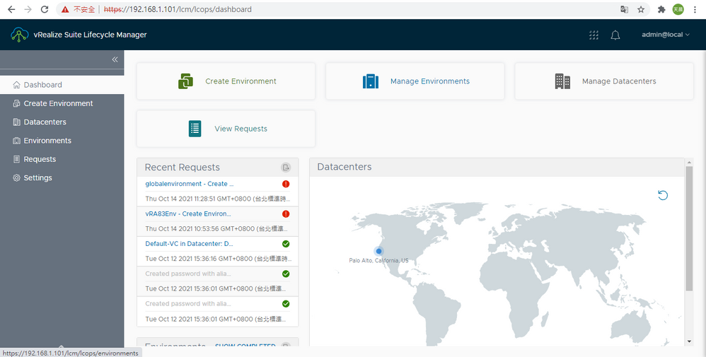 vRealize Suite Lifecycle Manager-dashboard.PNG
